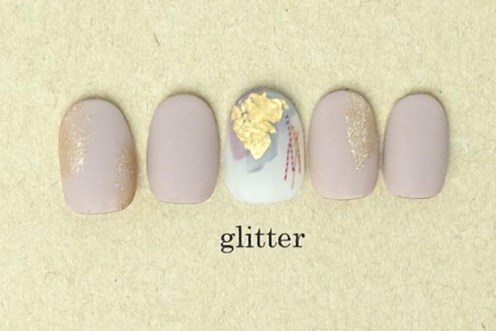 塗りかけ和装nail